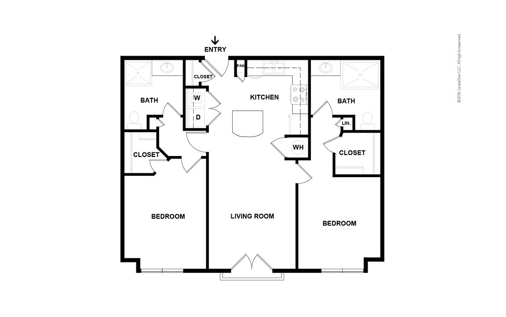 Weatherby 2 bedroom 2 bath 1067 square feet (2)