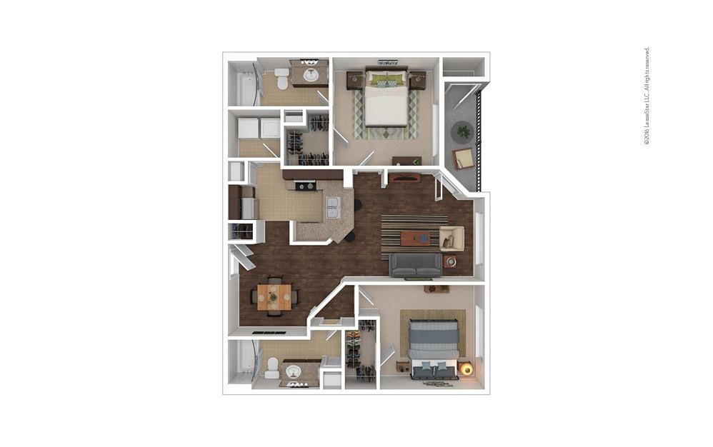 Bermuda 2 bedroom 2 bath 1003 square feet