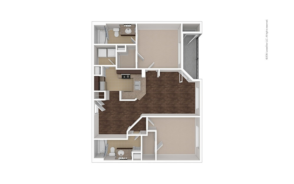 Bermuda 2 bedroom 2 bath 1003 square feet (1)