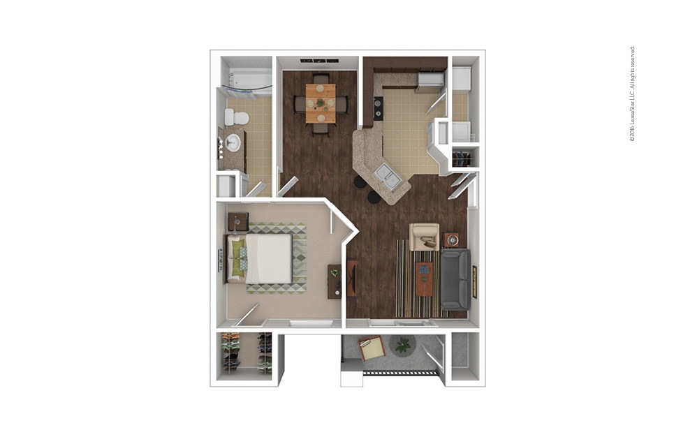 Dominican 1 bedroom 1 bath 730 square feet