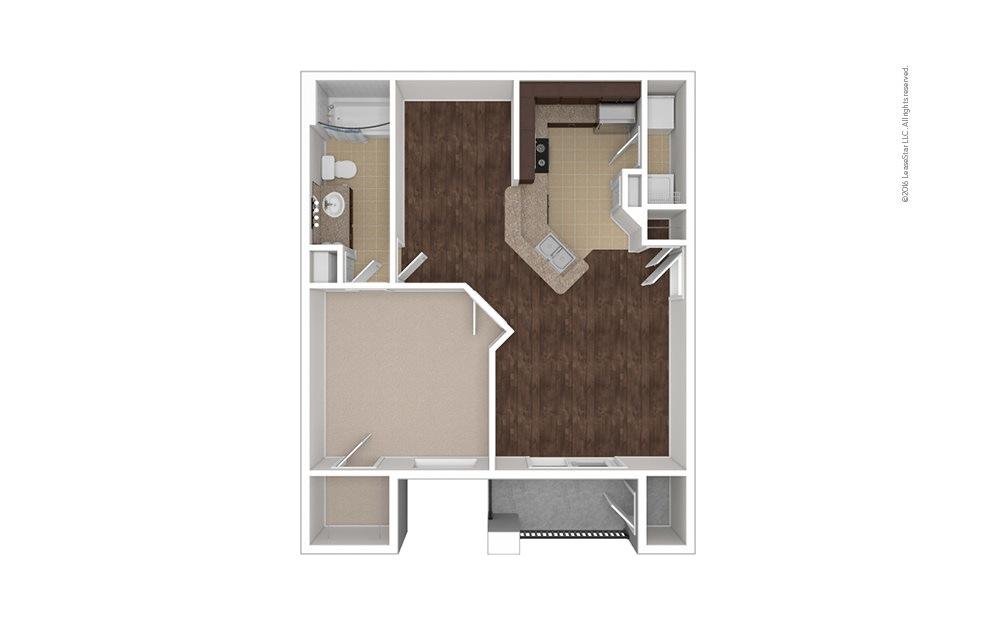 Dominican 1 bedroom 1 bath 730 square feet (1)