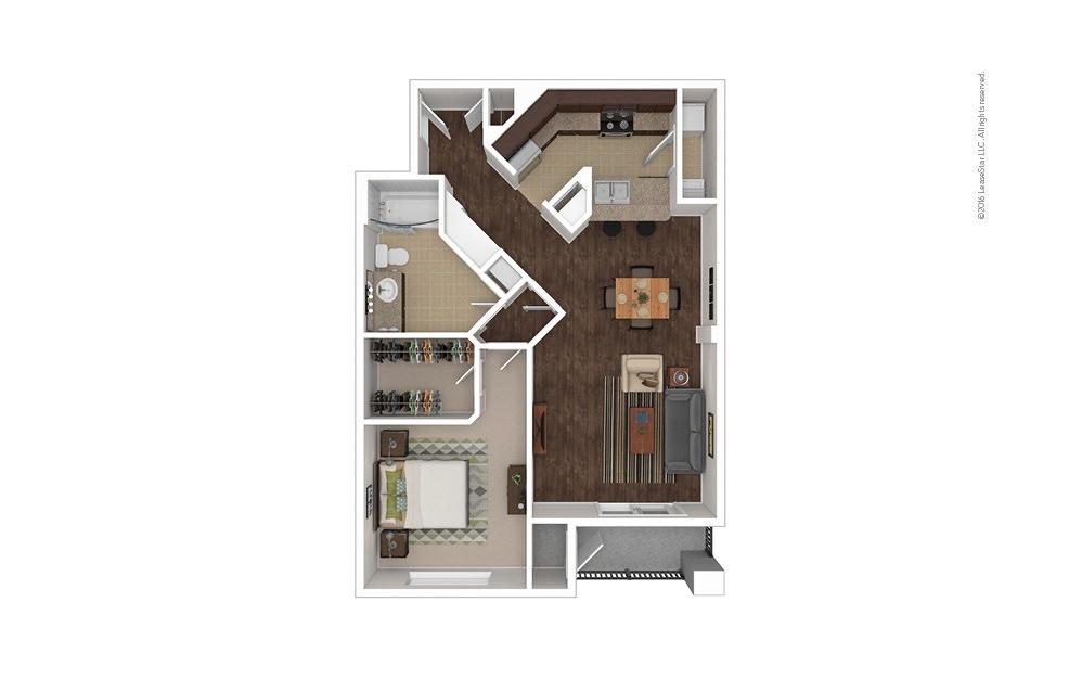 Grenadine 1 bedroom 1 bath 855 square feet