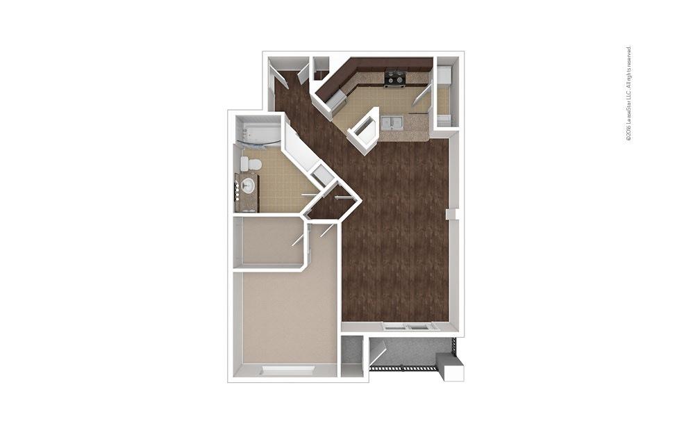 Grenadine 1 bedroom 1 bath 855 square feet (1)