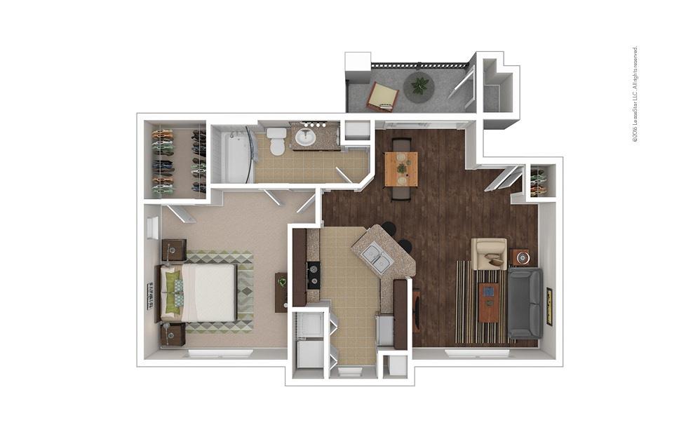 Nautilus 1 bedroom 1 bath 722 square feet