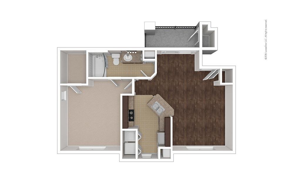 Nautilus 1 bedroom 1 bath 722 square feet (1)