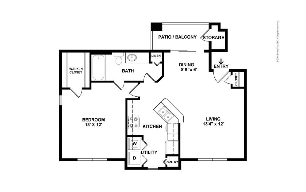 Nautilus 1 bedroom 1 bath 722 square feet (2)