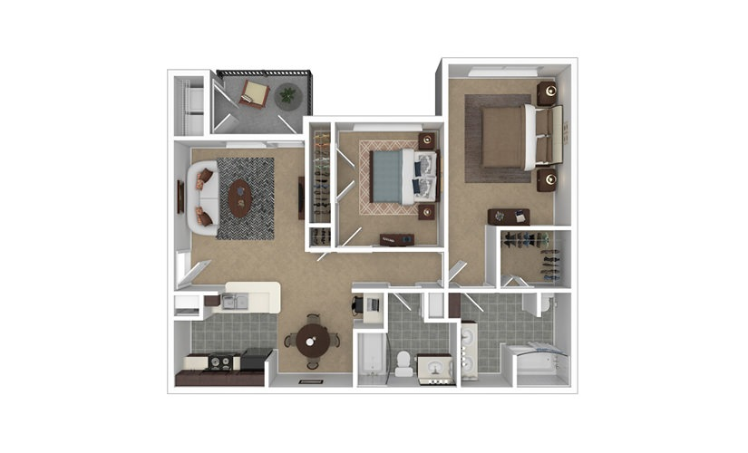 Julia 2 bedroom 2 bath 1019 square feet