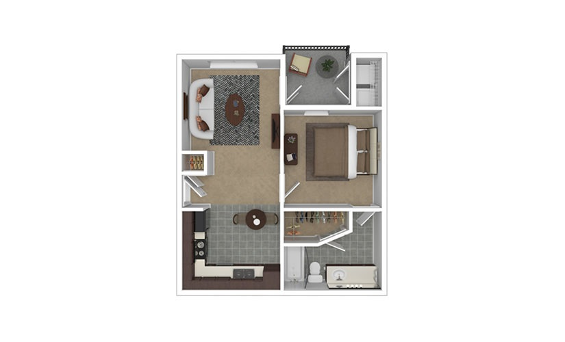 Krista 1 bedroom 1 bath 587 square feet