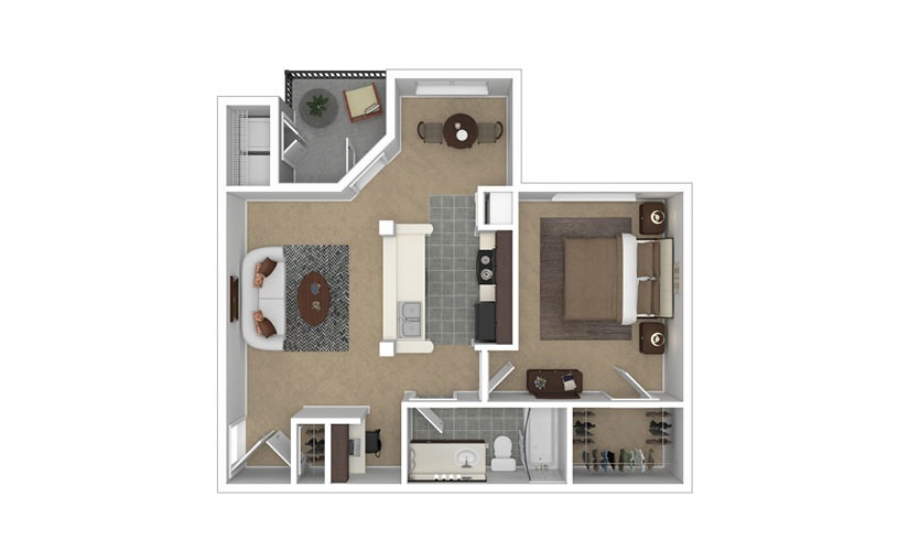 Madeline 1 bedroom 1 bath 734 square feet