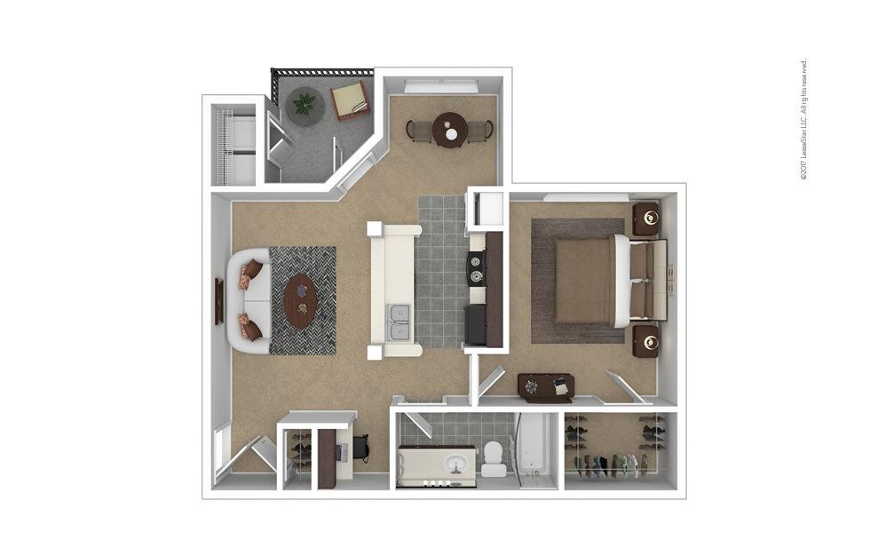 Madeline 1 bedroom 1 bath 734 square feet