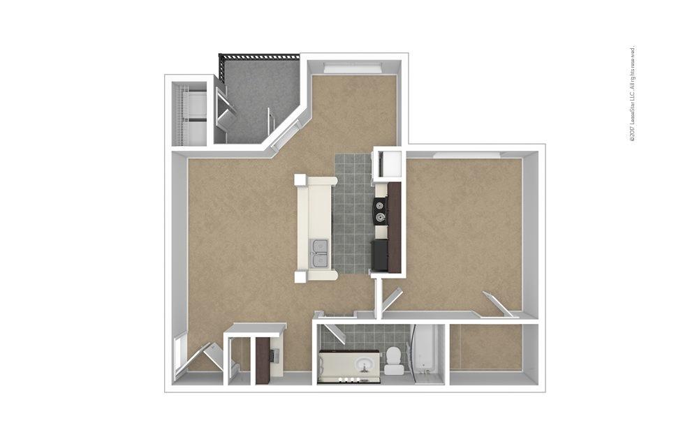 Madeline 1 bedroom 1 bath 734 square feet (1)