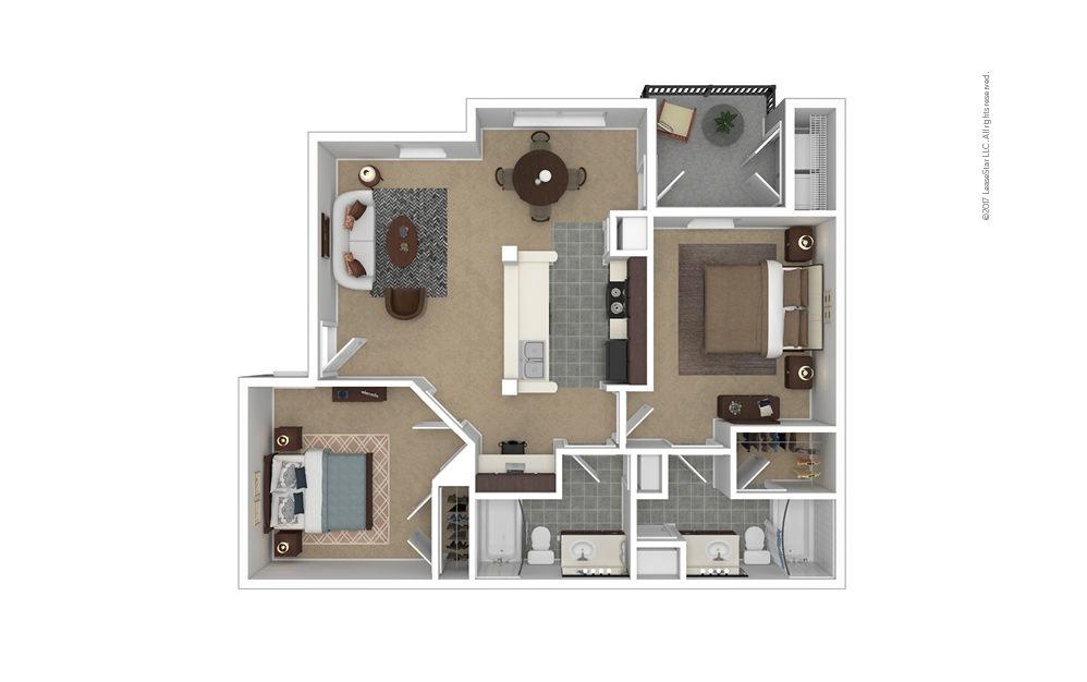 Savannah 2 bedroom 2 bath 984 square feet