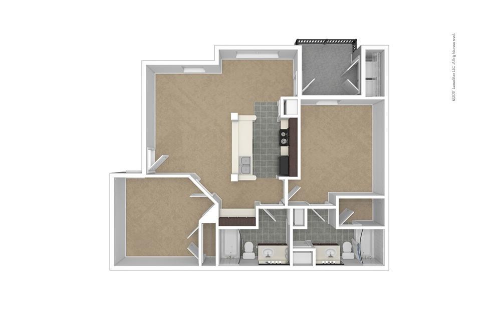 Savannah 2 bedroom 2 bath 984 square feet (1)