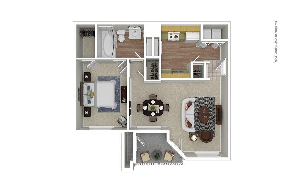 Azalea 1 bedroom 1 bath 689 square feet