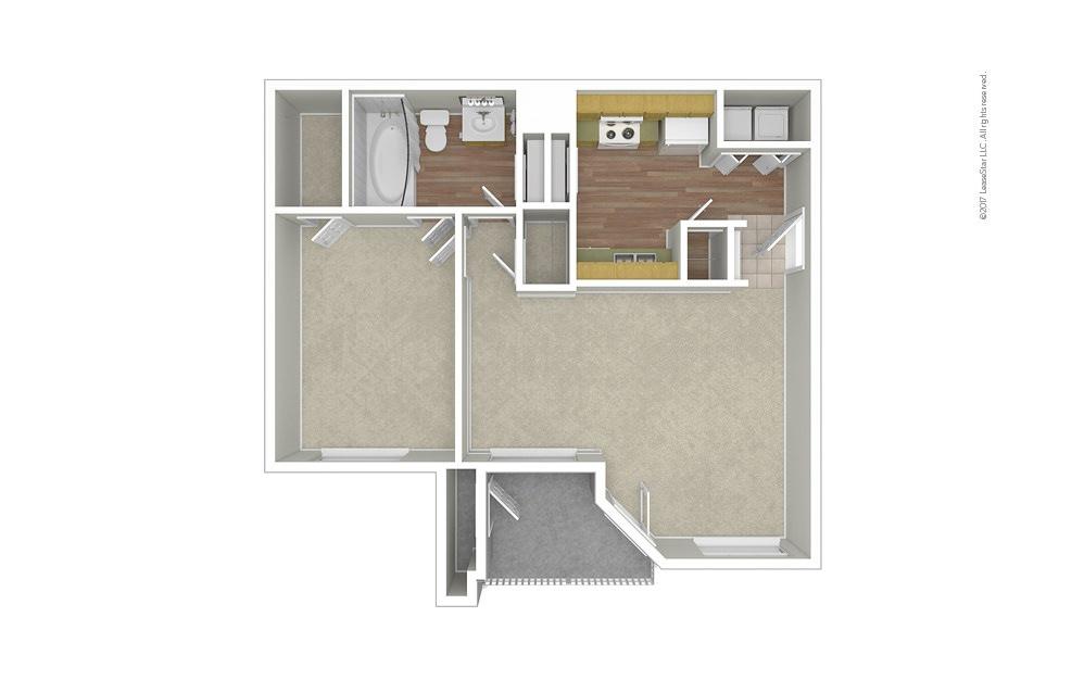 Azalea 1 bedroom 1 bath 689 square feet (1)