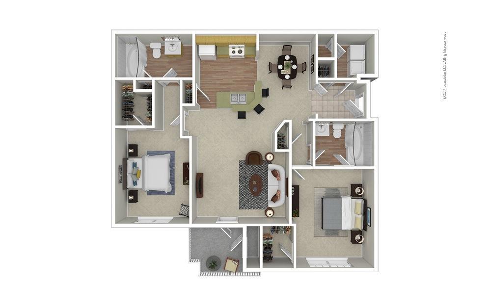 Champion 2 bedroom 2 bath 1118 square feet