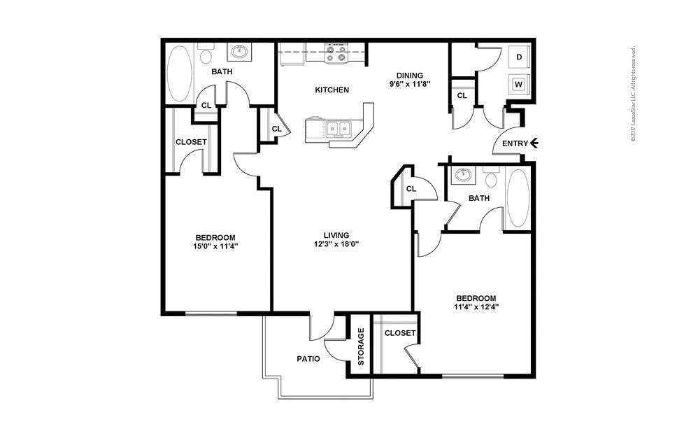 Champion 2 bedroom 2 bath 1118 square feet (2)