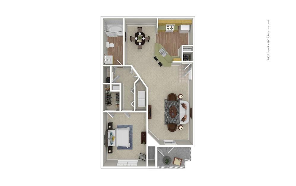 National 1 bedroom 1 bath 793 square feet