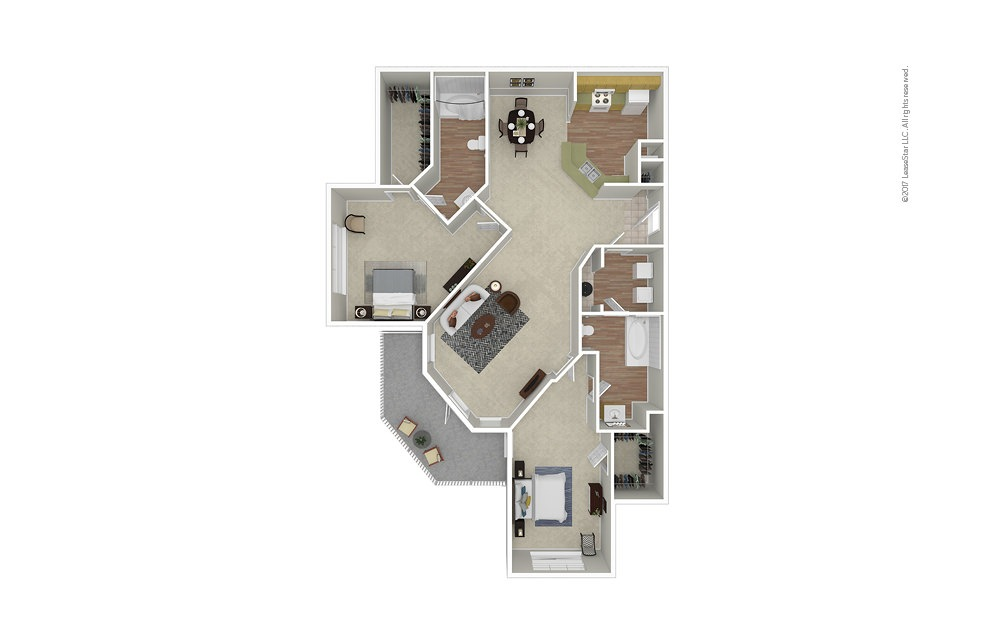 Opera 2 bedroom 2 bath 1197 square feet