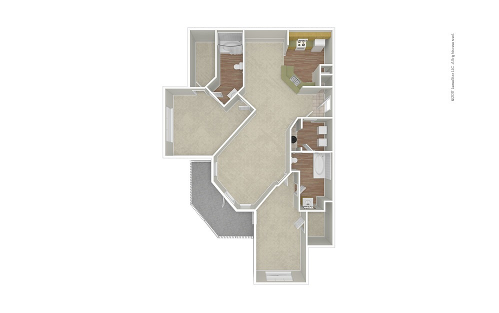 Opera 2 bedroom 2 bath 1197 square feet (1)