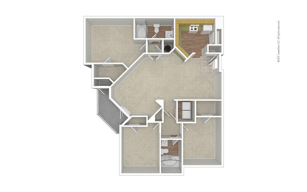 Watermark 3 bedroom 2 bath 1365 square feet (1)
