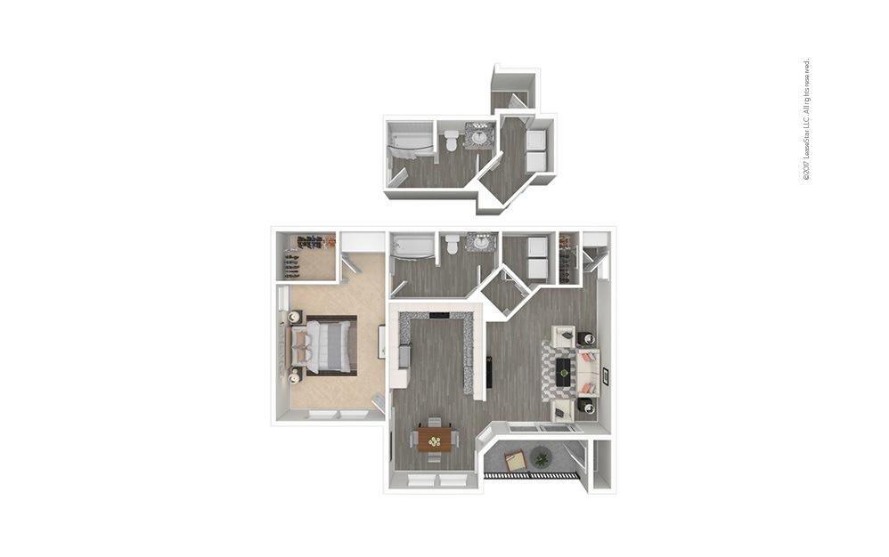 Arezzo 1 bedroom 1 bath 838 square feet
