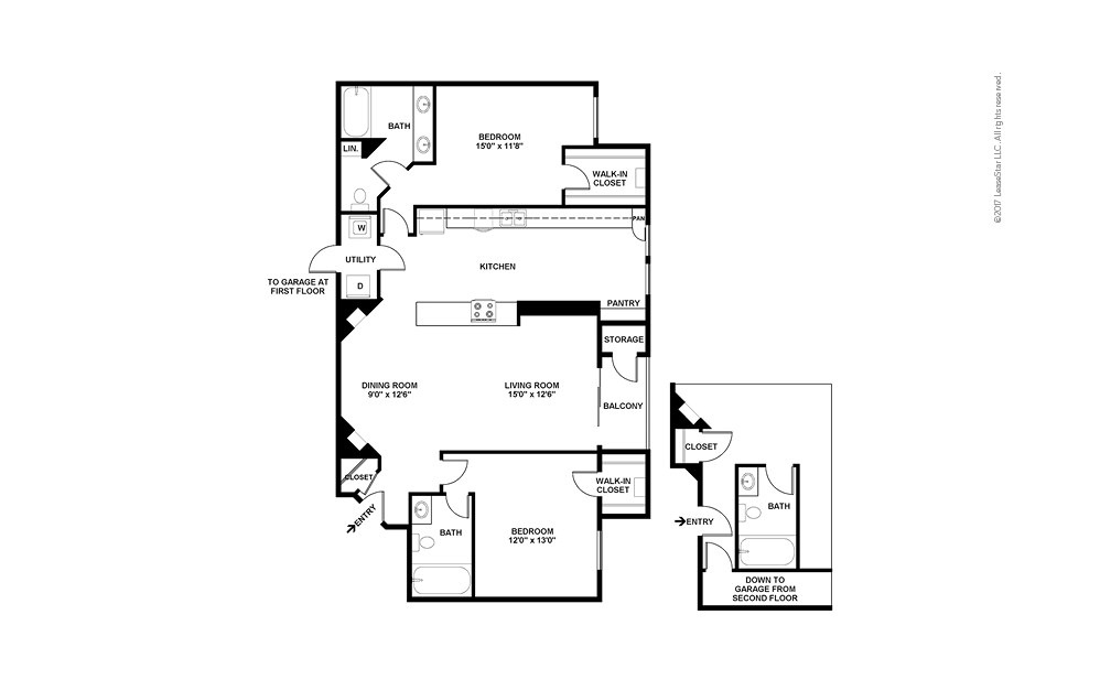Cortona 2 bedroom 2 bath 1253 square feet (2)