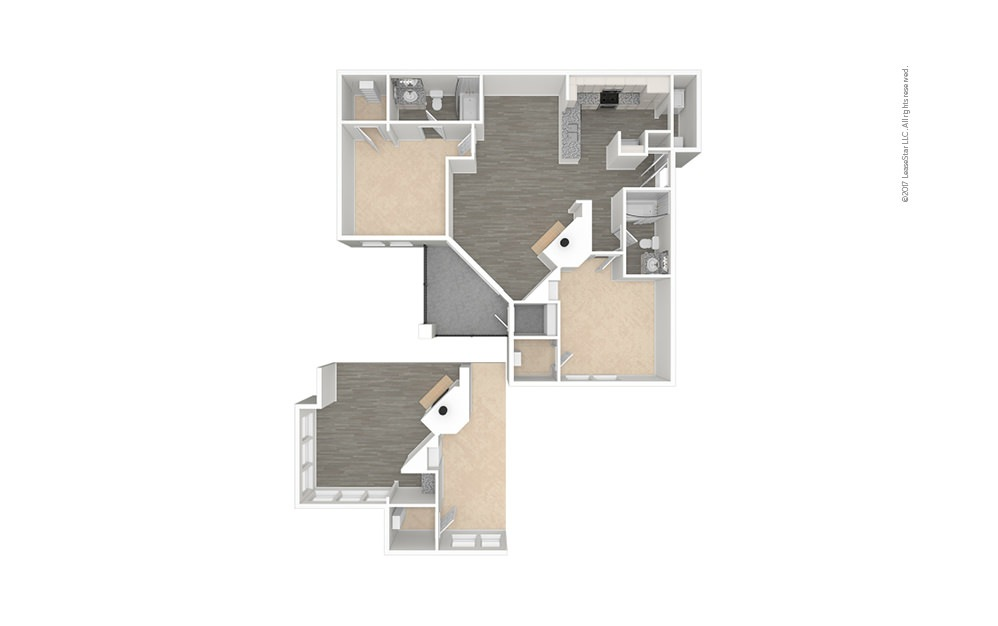 Florence 2 bedroom 2 bath 1069 - 1177 square feet (1)