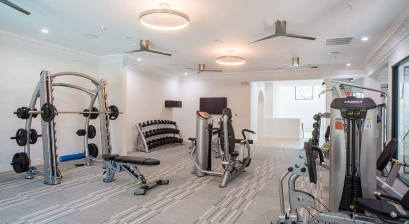 Our Valley Ranch apartment gym with updated fitness equipment