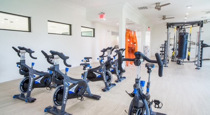 Spin studio at our apartments near Valley Ranch