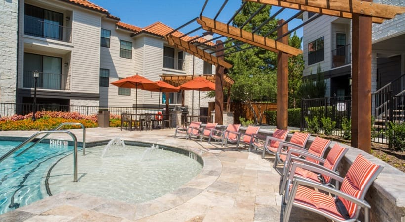 Valley Ranch apartments with pool and sun deck