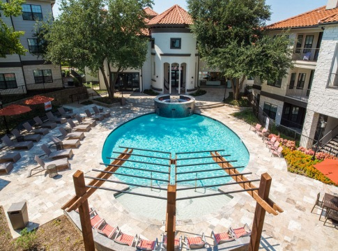 Resort-style pool with sundeck at Aleo at North Glen