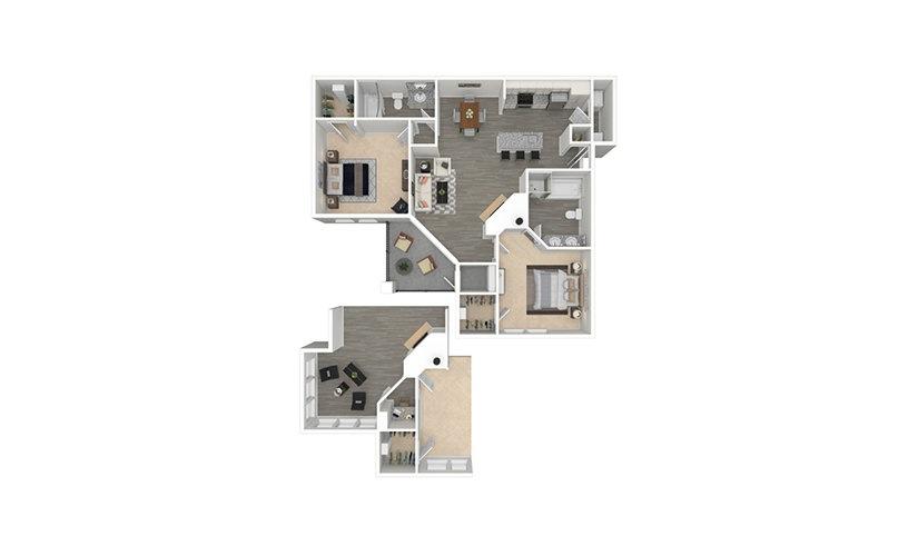Lucca 2 bedroom 2 bath 1069 - 1177 square feet
