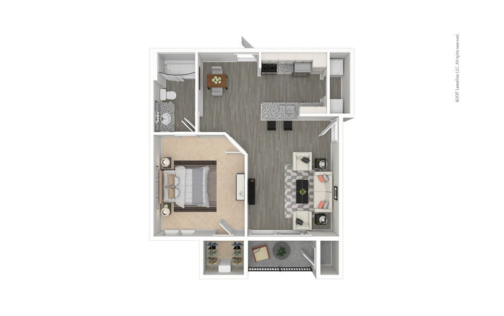 Pisa 1 bedroom 1 bath 650 square feet