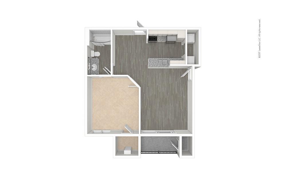 Pisa 1 bedroom 1 bath 650 square feet (1)
