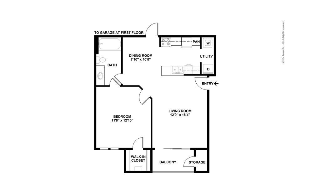 Pisa 1 bedroom 1 bath 650 square feet (2)