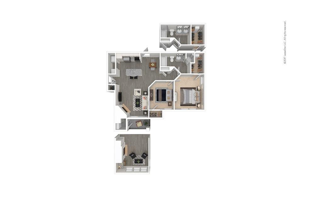 Siena 2 bedroom 1 bath 912 - 985 square feet