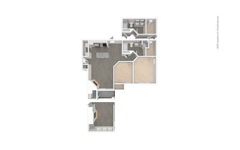 Siena 2 bedroom 1 bath 912 - 985 square feet (1)