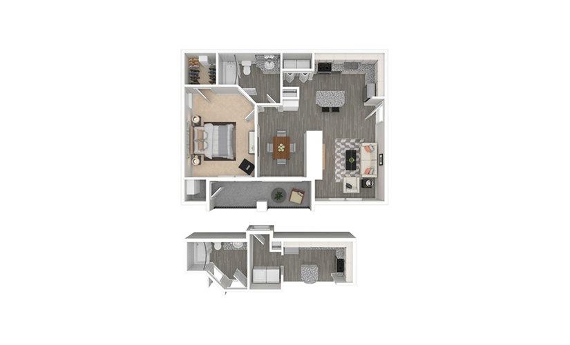 Volterra 1 bedroom 1 bath 740 square feet