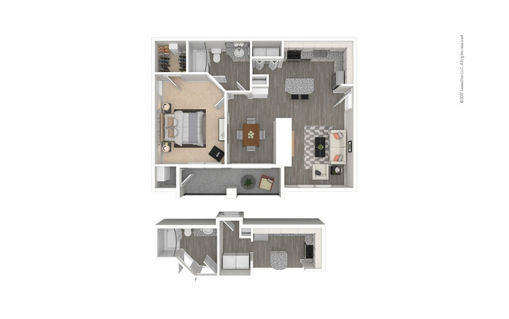 Volterra 1 bedroom 1 bath 740 square feet
