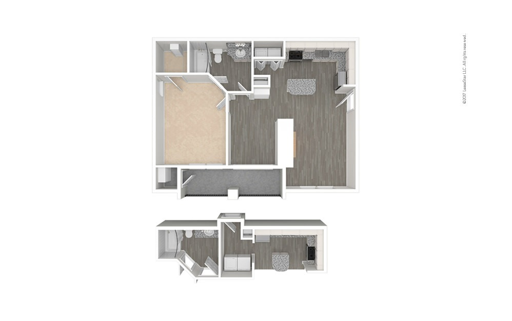 Volterra 1 bedroom 1 bath 740 square feet (1)
