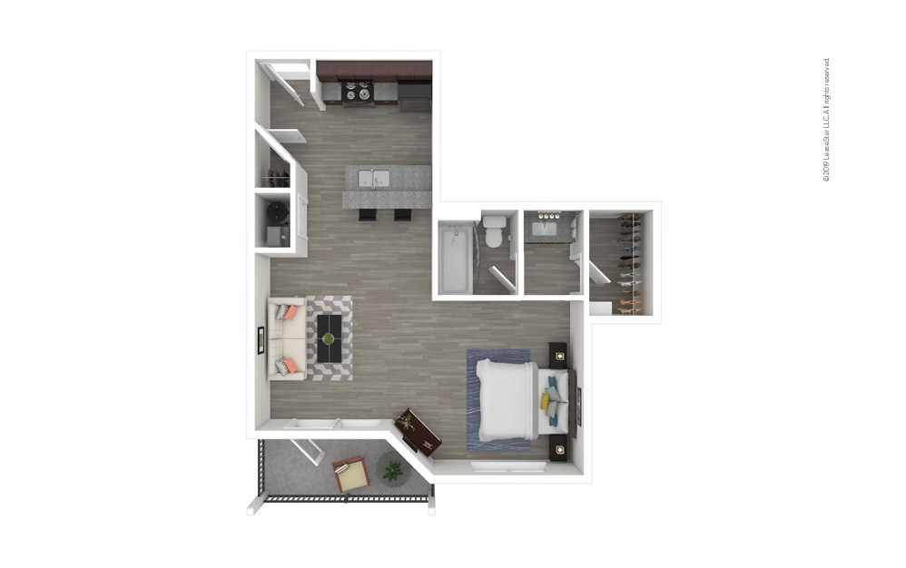Azalea Studio 1 bath 600 square feet