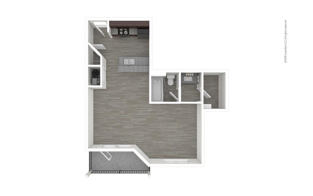Azalea Studio 1 bath 600 square feet (1)