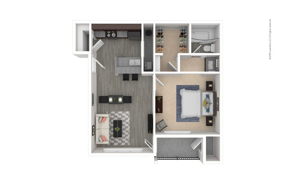 Cedar 1 bedroom 1 bath 628 square feet