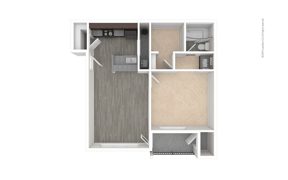 Cedar 1 bedroom 1 bath 628 square feet (1)