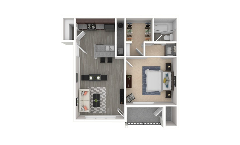 Cherokee Rose 1 bedroom 1 bath 640 square feet