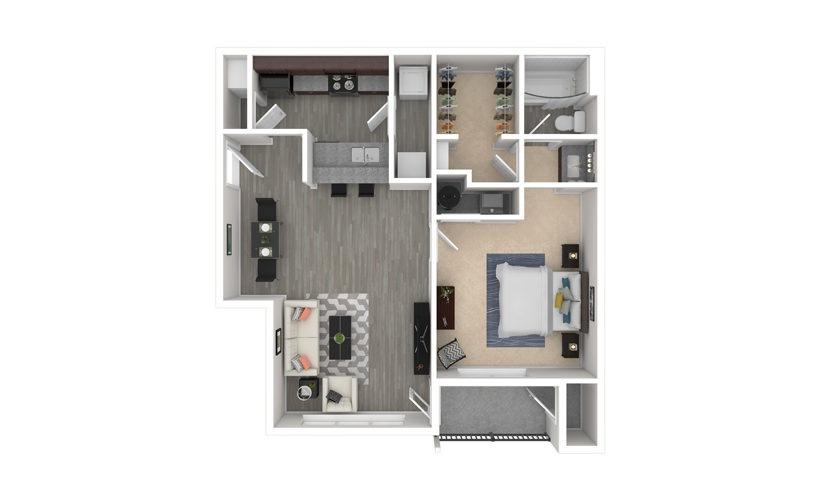 Dogwood 1 bedroom 1 bath 760 square feet