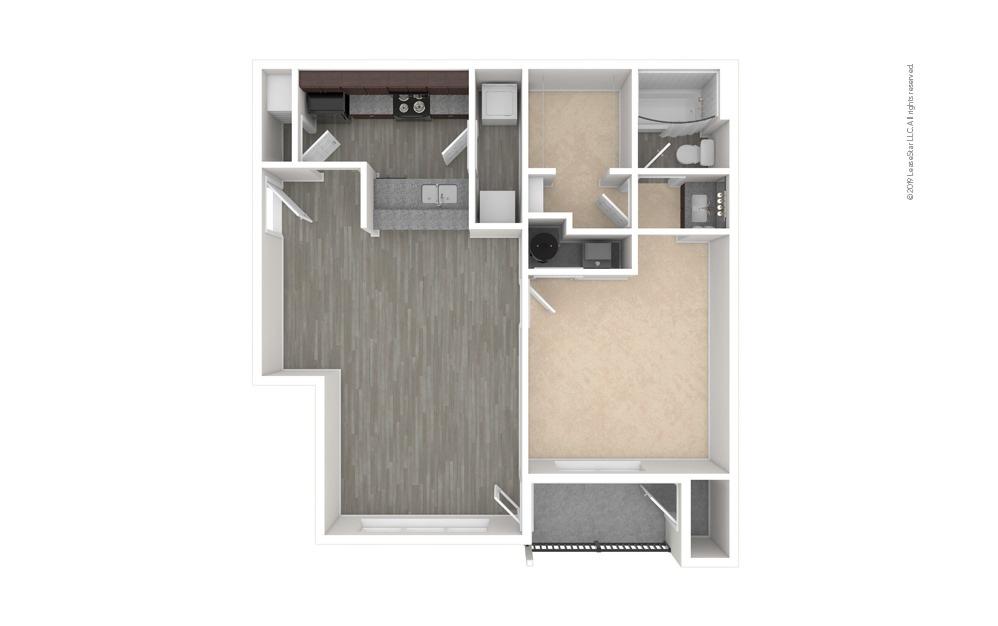 Dogwood 1 bedroom 1 bath 760 square feet (1)