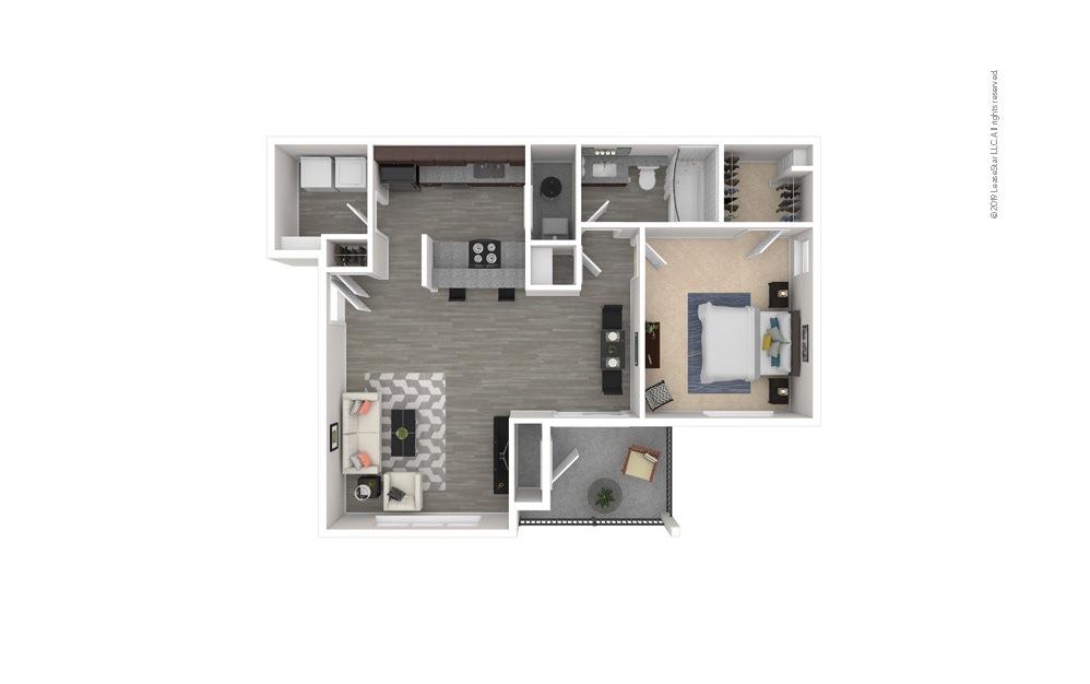 Gardenia 1 bedroom 1 bath 827 square feet