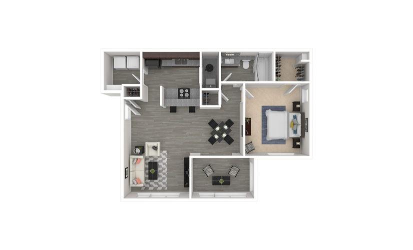 Honeysuckle 1 bedroom 1 bath 870 square feet